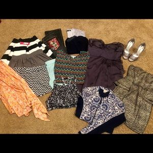 Bulk lot of 14 items - Tory Burch, Ed Hardy, Lulu
